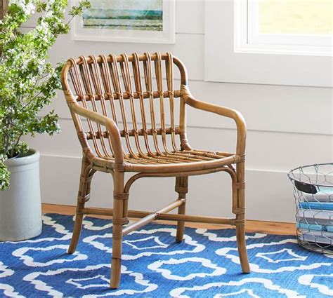 cannes woven rattan chair pottery barn