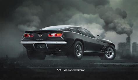 retro  corvette rendering infuses camaro gm authority