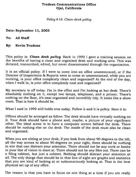 Kevin Trudeau Memos | The Smoking Gun