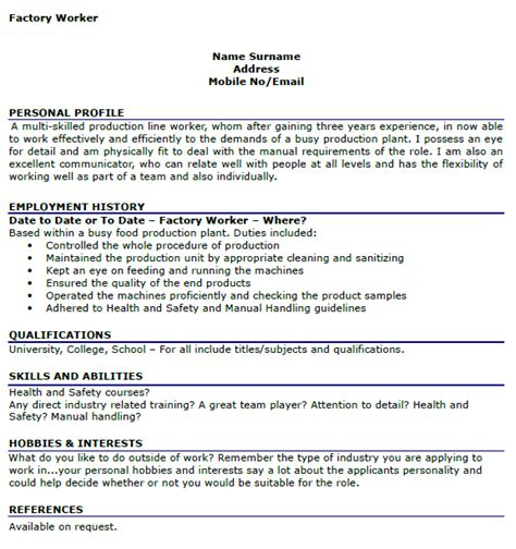 How To Right Cv Exles by Interests And Hobbies Cv Template Foto Hobby And Hobbies
