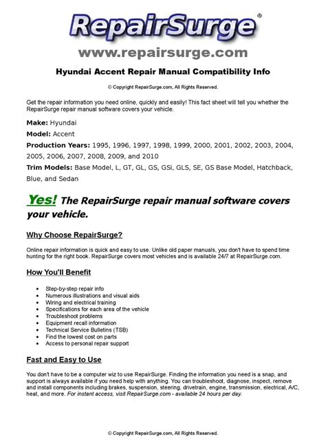 free service manuals online 1995 hyundai accent transmission control hyundai accent online repair manual for 1995 1996 1997 1998 1999 2000 2001 2002 2003