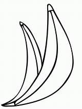 Coloring Banana Peel Template Popular Coloringhome sketch template