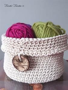 Corbeille Au Crochet : d co crochet la corbeille 1 tricoti tricota ~ Preciouscoupons.com Idées de Décoration