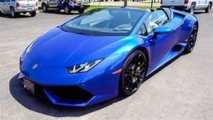 I Deliver a 2017 Lamborghini Huracán LP610-4 Spyder in Blu ...  Lamborghini