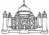 Taj Mahal Coloring Mughal Shah Jahan Cartoon Colouring Emperor Tajmahal Pages Clipart Netart Cliparts Clip sketch template
