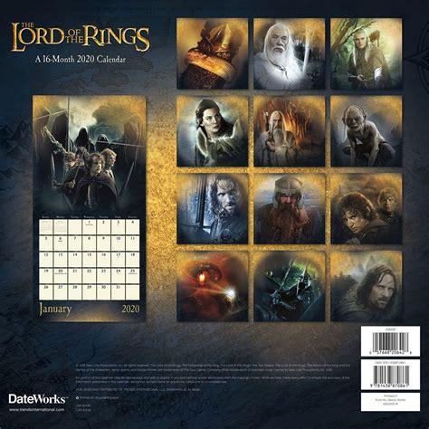 lord rings wall calendar