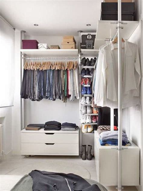 simple small walk in closet ideas for apartment pictures