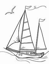 Coloring Sailboat Pages Printable Sail Pdf Coloringcafe Boat Sailboats Sheet Drawing Ship Sheets Beach Prints Bernardo Vehicle Button Standard Below sketch template
