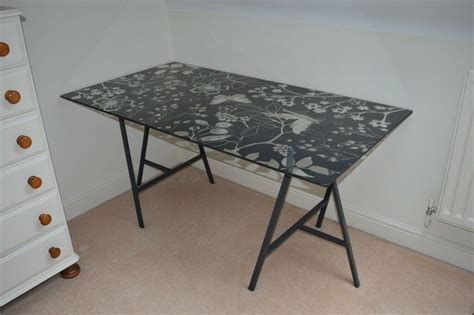 Ikea Table Top Desk by Ikea Sell Glass Desk Table Top With Trestles Student