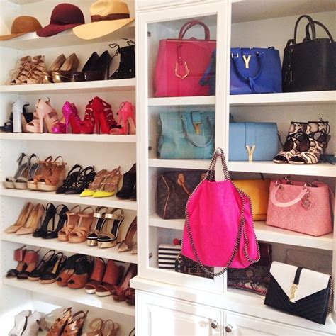 Luxury Closet Handbags by Chic Walk In Closet Features A Built In Cabinet With Glass