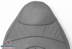 1999-2000 Ford F-150 Lariat Leather Seat Cover  Driver Lean Back  Gray