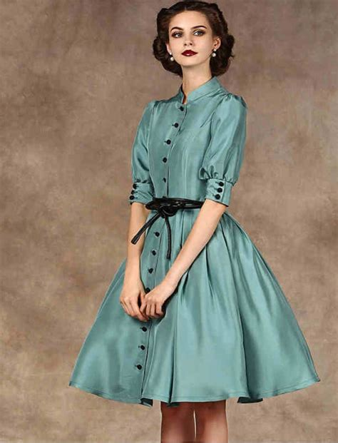 1950s Fashion Vintage Inspired Style Button Up Dress   Anni 50   Pinterest   1950s fashion ...