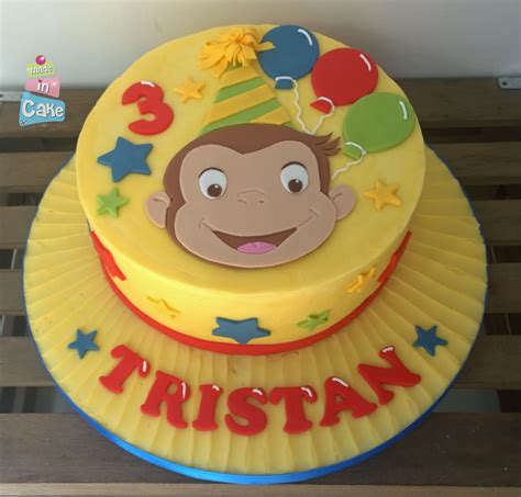 curious george birthday cake buttercream  sugarpaste