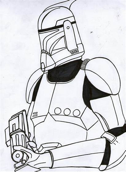 Clone Trooper Wars Star Coloring Pages Line