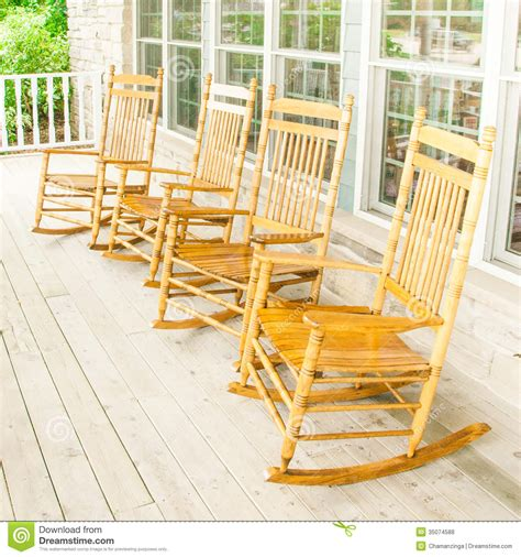 rocking chairs stock photo image of leather deck