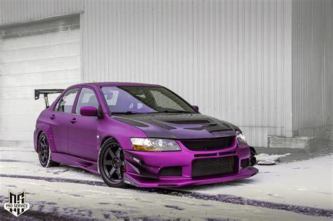 100 Purple Mitsubishi Lancer Lancer Evolution Iv