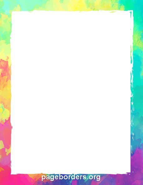 colorful border printable colorful border use the border in microsoft