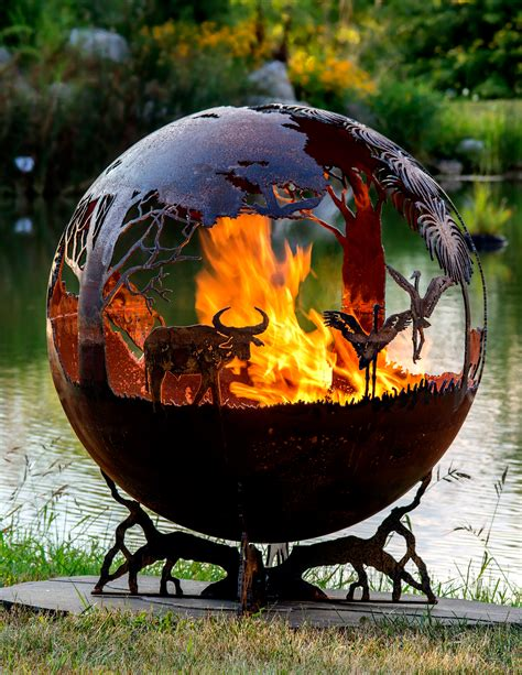 outback australia fire pit sphere  fire pit gallery