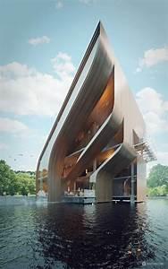Futuristic, Villa, In, Miami