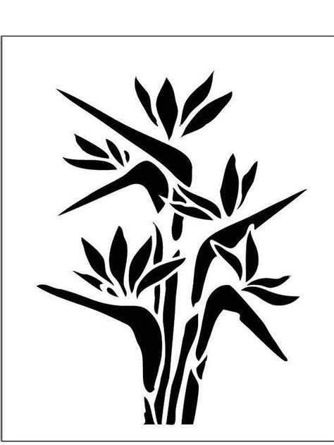 FLWR09 Reusable 10MIL (0.25mm) Laser-Cut Mylar Stencil Bird of Paradise | Floral Stencils