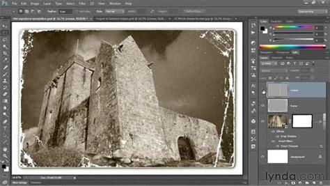 adding  weathered  photo frame effect