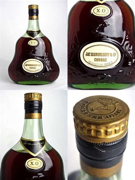 liquor store spana bottle hennessy xo 700 green bottles gold cap 40 degree bag