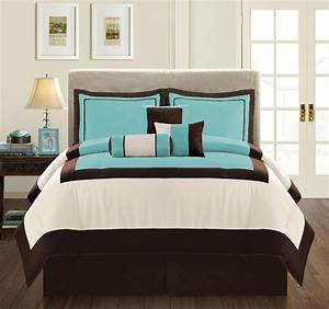 Teal, And, Brown, Bedding, Product, Selections
