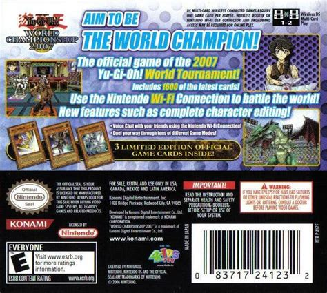 World Chionship Decks 2007 by Yu Gi Oh World Chionship 2007 Box For Ds Gamefaqs