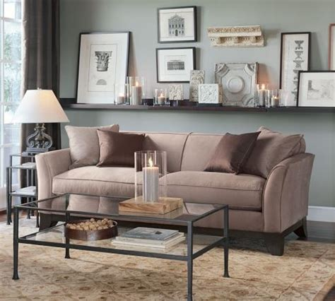 Pottery Barn Living Room Ideas Pinterest shelf behind couch for johnson way pinterest