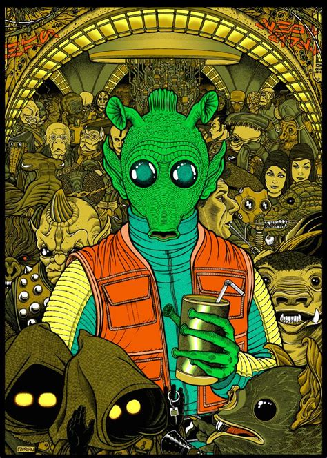 star wars greedo  blade  posters  sale  mondo