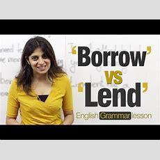 Borrow Vs Lend (niharika)  English Grammar