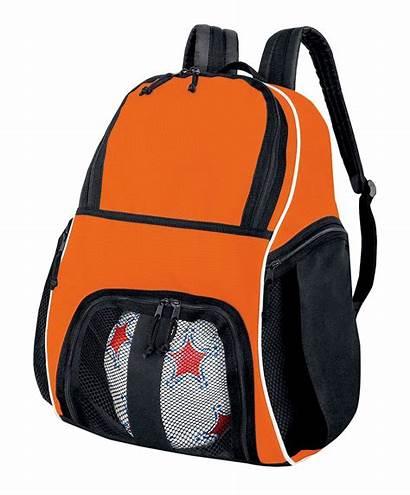 Bag Transparent Backpack Soccer Bags Orange Format