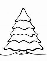 Tree Coloring Christmas Printable Templates Pages Plain Holiday Patterns Print Stencils Shape Craft Outlines sketch template