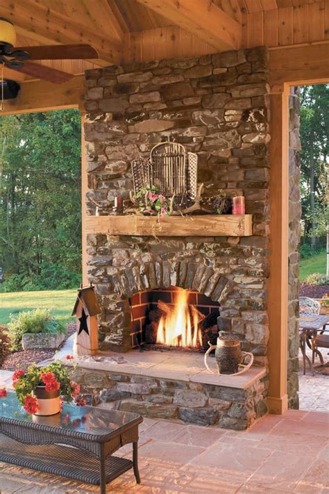 outside fireplace designs 25 fireplace ideas for a cozy nature inspired home