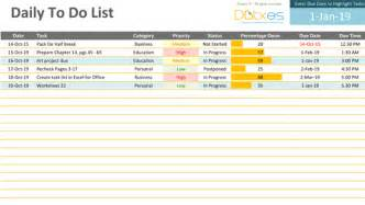 To Do Template Excel To Do List Excel Template Free To Do List