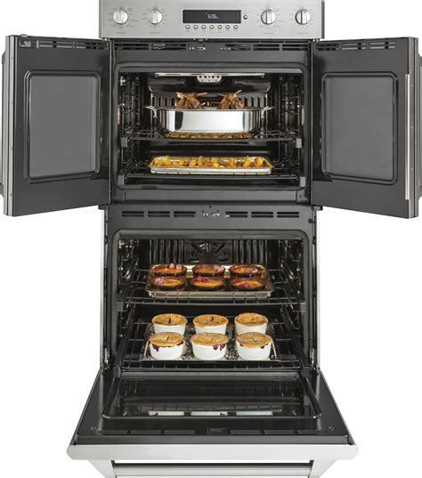 zetflss ge monogram  double wall oven true convection  clean wsteam