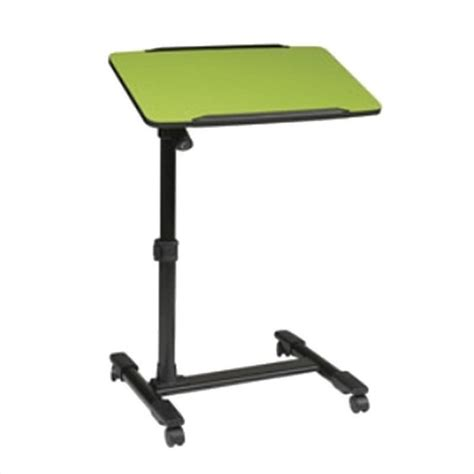 Patio Tables At Walmart by Adjustable Top Mobile Laptop Cart In Green Lt733 6