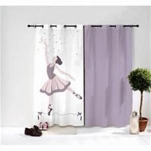 achat vente rideau danseuse ballerine rose ballet deco With tapis chambre bébé avec tissus fleuris pour double rideaux
