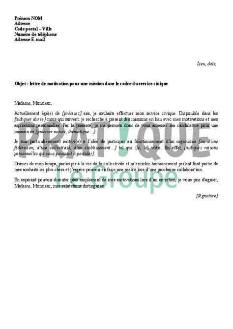 lettre de motivation auxiliaire de bureau lettre de motivation dans le cadre du service civique