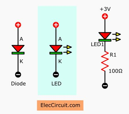 Led Circuit Diagram Letter by How To Use Led Circuit In Basic Ways Eleccircuit