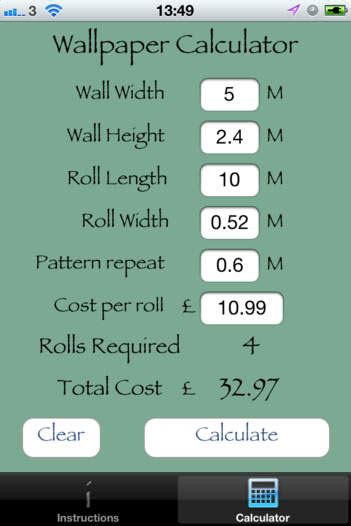 calculate wallpaper  pattern repeat