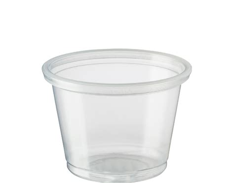 portion control cups small ml clear plastic
