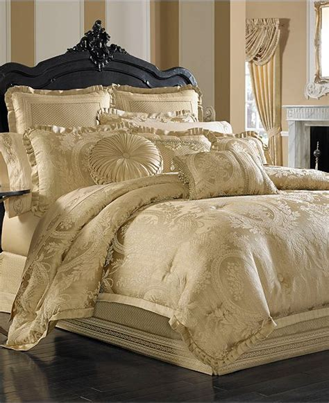 queen  york napoleon gold  pc bedding collection