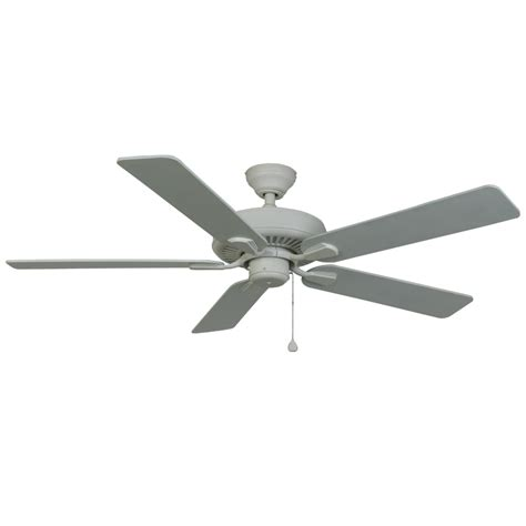 harbor breeze outdoor ceiling fan shop harbor breeze classic 52 in white indoor outdoor