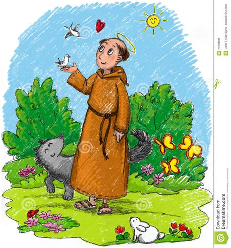 st francis of assisi for children francis of assisi stock image image 29791631