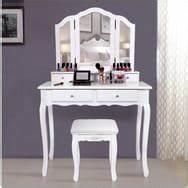 Coiffeuse Avec Miroir Pas Cher : meubles coiffeuse et meuble bijoux pas cher prix auchan ~ Teatrodelosmanantiales.com Idées de Décoration