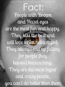 Hazel Brown Eyes Quotes. QuotesGram