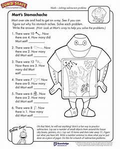 U0026quot Mort U2019s Stomach Ache U0026quot   U2013 3rd Grade Subtraction Problems And Worksheets For Kids  Jumpstart