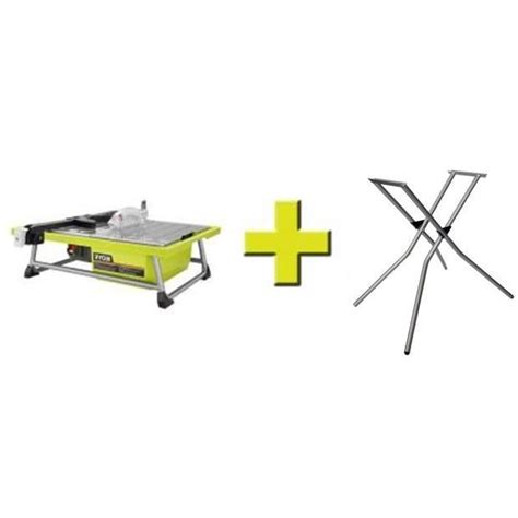 ryobi 7 tile saw ryobi 7 in tile saw with stand ws722sn the home depot