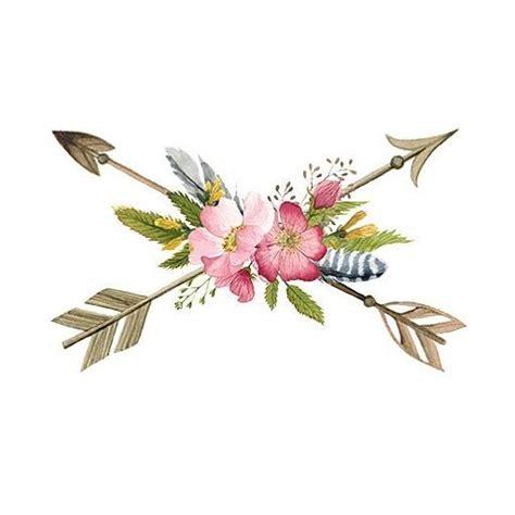 new boho floral arrows temporary tattoo arrowtattoo temporarytattoo boho floraltattoo